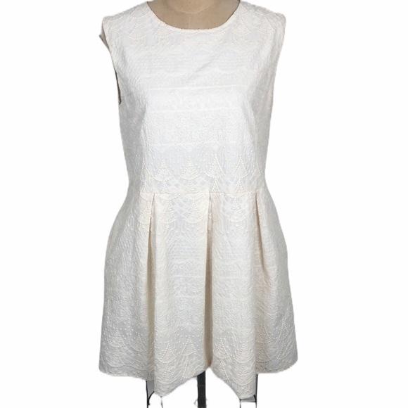 Anine Bing Dresses & Skirts - Anine Bing cream embroidered sleeveless dress